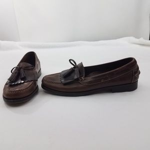 Cole Haan Country Mens Brown Leather Slip on Loafe
